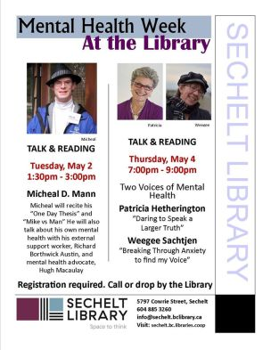 Mental Health Week at the Sechelt Library 2017